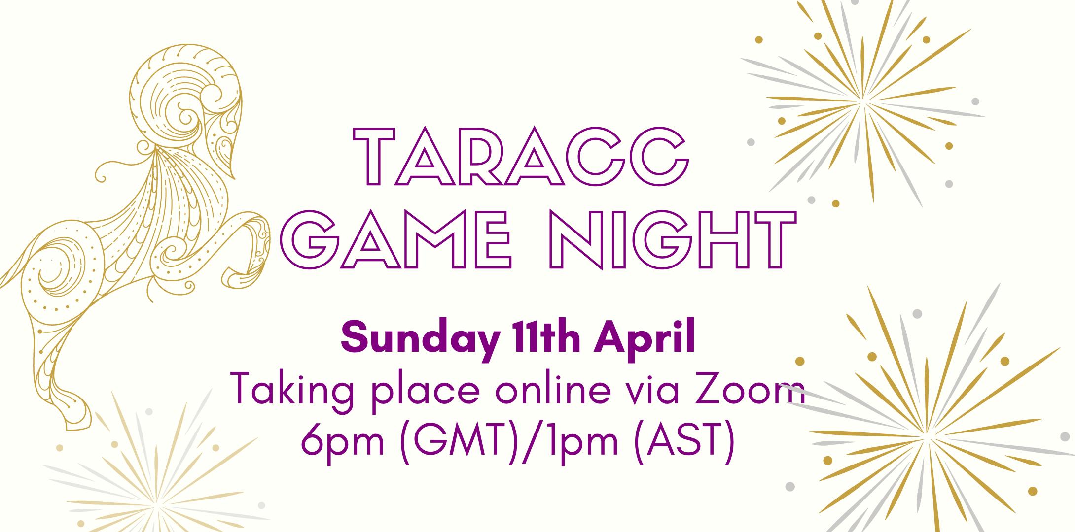 TARACC Game Night website header